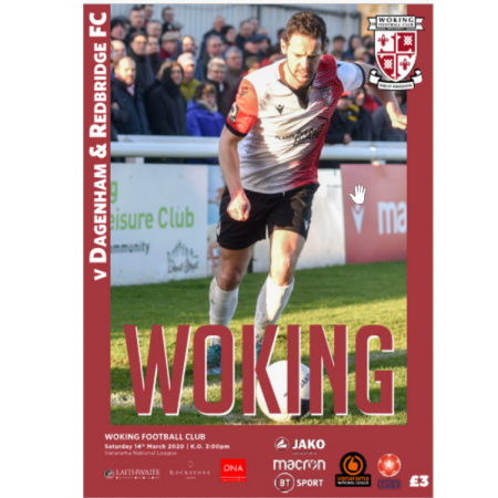 Cover of programme v Dagenham